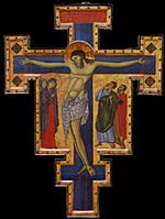 Crusifix, c. 1260-1270. Artist: Master of Saint Francis, (Maestro di San Francesco) (active 1260-1280)